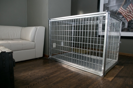 50 inch Collapsible Steel Heavy Duty Dog Crate