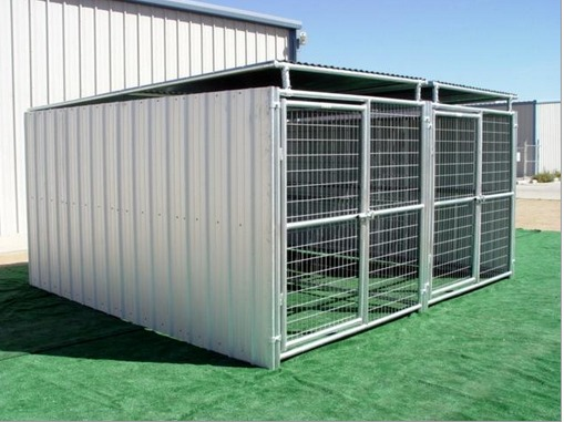 heavy duty 2run dog kennel 3 sides plus roof
