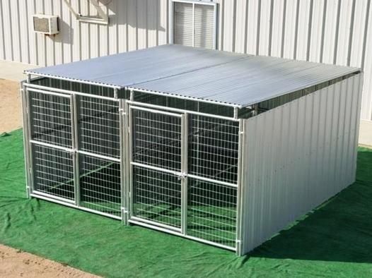 Heavy Duty 2 Run Dog Kennel 6 X12 X6 H 3 Sides Plus Roof