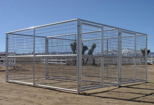 Dog Kennel 2 Run 6 X12 X6 H Heavy Duty Steel Construction