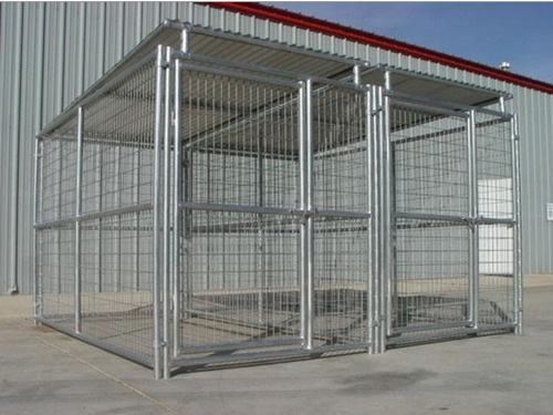 Heavy Duty Steel Dog Kennel 2 Run 5 X10 X6 H W Roof