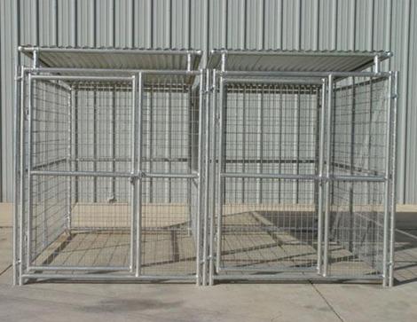 heavy duty steel dog kennel 2 run wroof