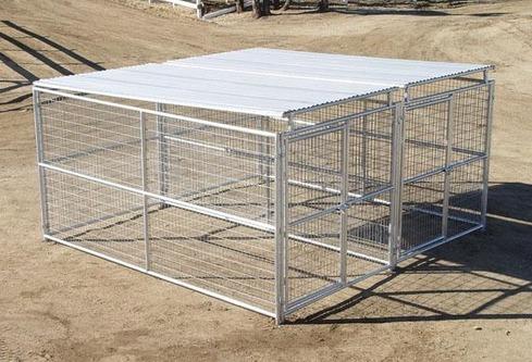 Heavy Duty Dog Kennel 2 Run 6 X12 X6 W Roof