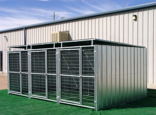Heavy Duty 3 Run Dog Kennel 5 X10 X6 3 Covered Sides Roof