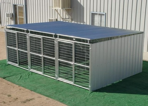 Dog Kennel Heavy Duty 3 Run 6 X12 X6 3 Sides Roof