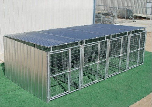 Heavy Duty 4 Run Dog Kennel 5 X10 X6 3 Covered Sides Roof