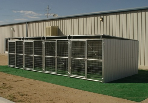 Heavy Duty Dog Kennel 4 Run 6 X12 X6 Shed Row Style Roof