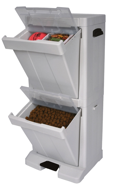 dog food container and pet storage tower by richell. Black Bedroom Furniture Sets. Home Design Ideas