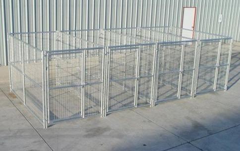 Heavy Duty 4 Run Dog Kennel 5 X10 X6 Steel Construction