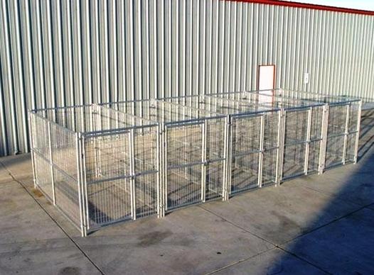 5 Run Heavy Duty Dog Kennel 5 X10 X6 Steel Wire Construction