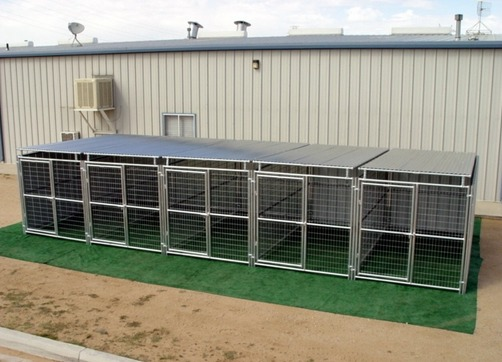 Heavy Duty 5 Run Dog Kennel 5 X10 X6 3 Covered Sides Roof