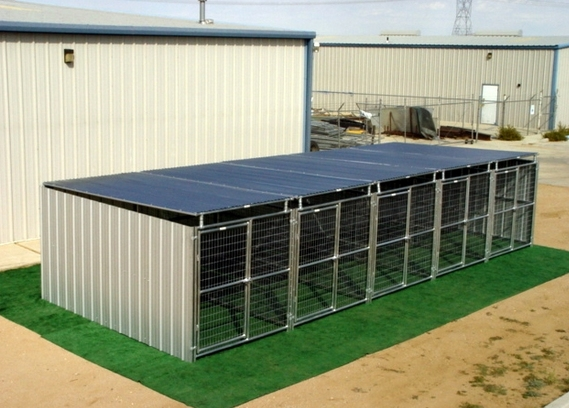 Heavy Duty 5 Run Dog Kennel X10 X6 3 Covered Sides Roof