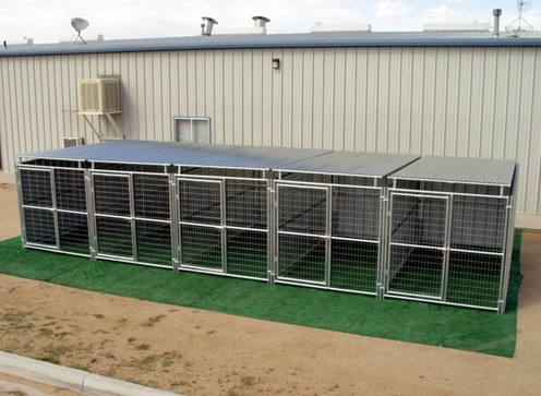 Heavy Duty Dog Kennel 5 Run 6 X12 X6 Shed Row Style Roof
