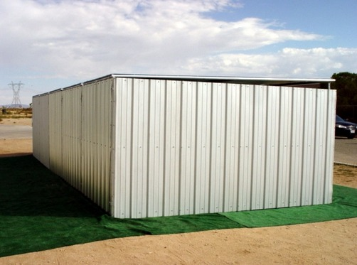 Heavy Duty Shelter : Heavy duty dog kennel run x shed row style roof