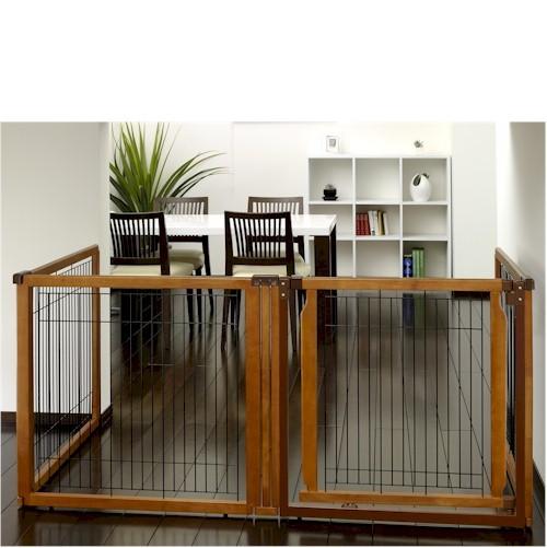 Convertible Elite Pet Gate 4 Panel Dog Pen Room Divider