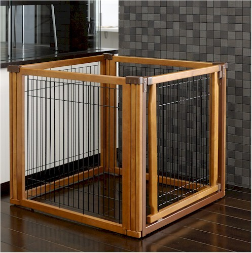 Convertible Elite Pet Gate 4 Panel Dog Pen Room Divider