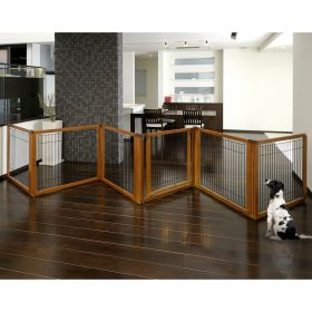 Convertible Elite Pet Gate 6 Panel Dog Pen Room Divider
