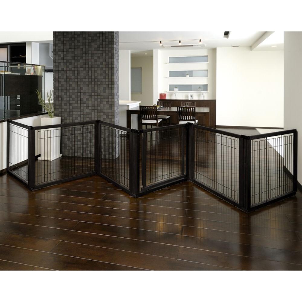 Convertible Elite Pet Gate 6 Panel Dog Pen Room Divider