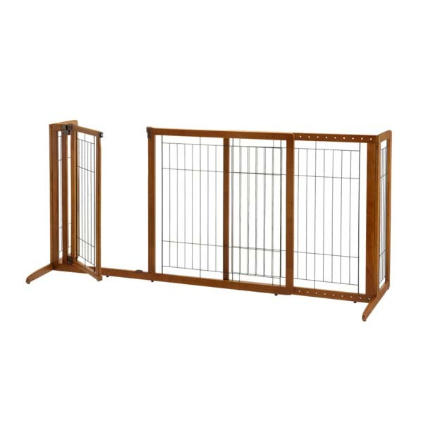 Deluxe Freestanding Pet Gate With Door By Richell R94189