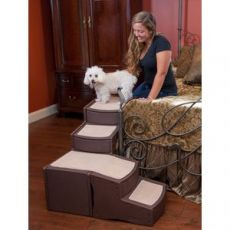 Easy Step Pet Stairs for the Bedroom fits Small to Medium Dogs