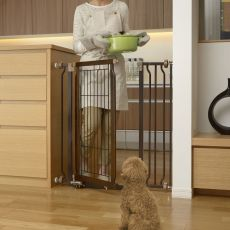 Hands-Free Pressure Mounted Pet Gate Coffee Bean R94903