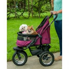 No-Zip Double Pet Stroller - The Ultimate in Design and Comfort