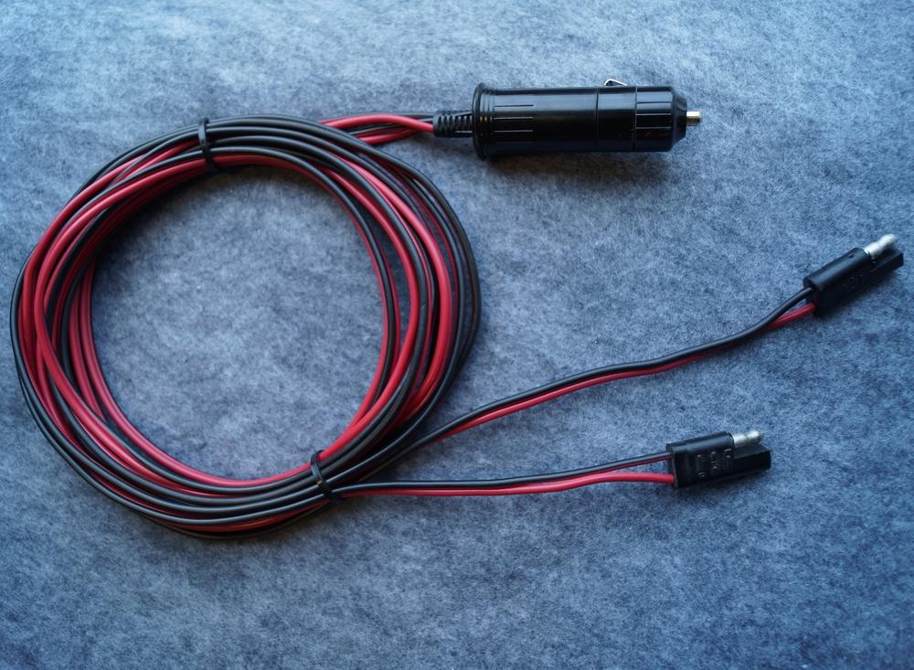 2 Kennel Fan Double Cigarette Lighter Power Cord