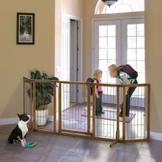 Premium Plus Pet Gate with Door Extra Wide R94904