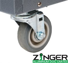 Removable Caster Wheels for Zinger Heavy Duty Dog Crates