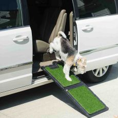 Natural-Step™ Pet Ramp with Poly Grass for Dog Comfort