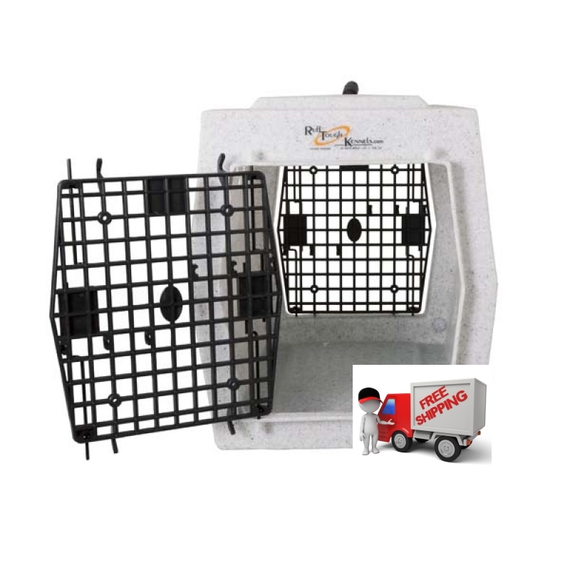 Ruff Tough Kennels Affordable Medium Kennel Double Doors