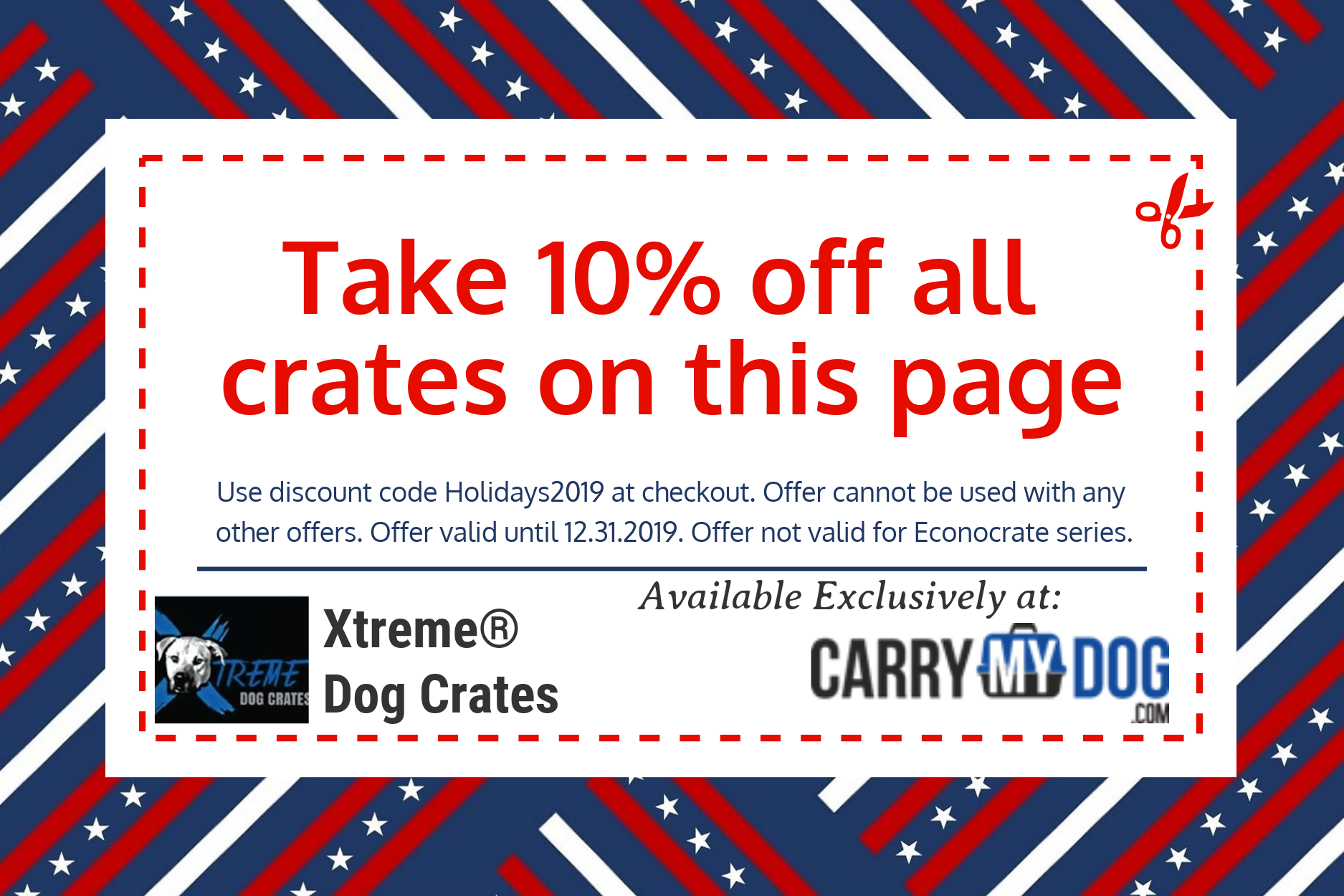 10_off_Xtreme_heavy_duty_dog_crate_from_carrymydog.com