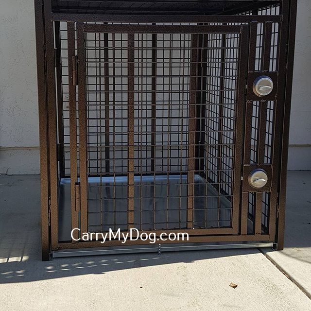 heavy duty dog crate Double deadbolts