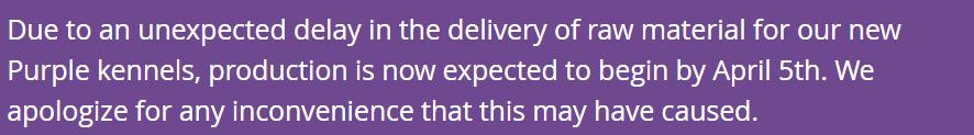 Purple kennel notice