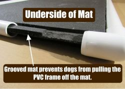 Heavy duty dog crate mat chew resistant by Tuff Comfort cutaway view