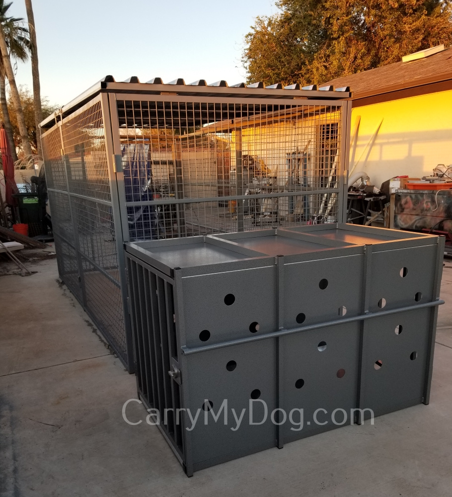 Xtreme Aquacrate comparasion to a 6x12 ft kennel