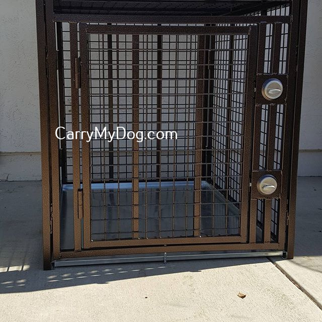 Heavy Duty Dog Crate Collapsible Indestructible Steel