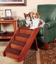 Deluxe PupSTEP Wood Stairs for good Dog Health by Solvit