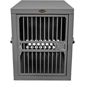 Strong Aluminum Dog Crates by Zinger Deluxe Series (SELECT ZINGER CRATE SIZE: Deluxe 3000 - Airline Approved 10-DX3000-2-AR)