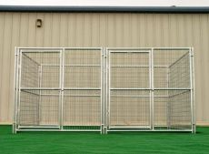 Multiple Run Kennels for Backyard or Commercial Operations (SELECT YOUR MULTI-RUN KENNEL SIZE: KENNEL ONLY  6' x 8' x 6'H 2-RUN)