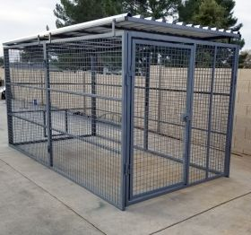 Commercial Quality Outside Dog Kennels Single Runs (SELECT DOG RUN: 5'W X 10'L X 6'H)