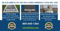Crate Mat for Wet Dogs Drains Water Away From Your Dog (Choose Travel Kennel Size: RLK SMALL - DPMRLK203814)