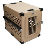 Heavy Duty Dog Crate - Collapsible - Escape Resistant Design (Collapsible Crate Size: CMD-COLL-300  Medium  31L x 20W x 22H)