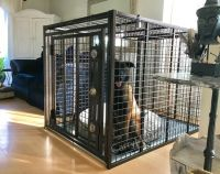 Giant Heavy Duty Dog Crate Escape Proof Indestructible Steel (SELECT GIANT CRATE SIZE: MEGA MAX GIANT 54 X 42 X 42H)