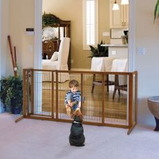 Deluxe Freestanding Pet Gate with Door by Richell R94189 (SELECT YOUR SIZE: MEDIUM  R94189)