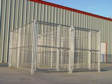 Multiple Run Kennels for Backyard or Commercial Operations (SELECT YOUR MULTI-RUN KENNEL SIZE: KENNEL ONLY  5' x 10' x 6'H  2-RUN)