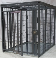 Heavy Duty Dog Crate - Collapsible - Indestructible - Steel (SELECT COLLAPSIBLE CRATE SIZE: MINI MAX  36L x 28W x 30H)