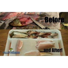 "Master Filletmaker makes fish cleaning quick easy & clean (Choose Filletmaker Size: Junior Filletmaker  18L x 23W x 4""H)"