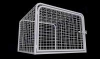 "Heavy Duty Dog Crate Steel Construction (SELECT HD CRATE SIZE: MESH  45""D x 45""W x 33""H)"