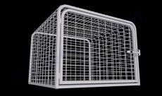 "Heavy Duty Dog Crate Steel Construction (SELECT HD CRATE SIZE: CURVED MESH  45""D x 45""W x 33""H)"